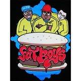The Fat Boys Hamburger Hip Hop Heren Zwart T-shirt