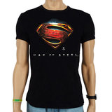 Superman Man of Steel DC Comics Heren Zwart slim-fit T-shirt