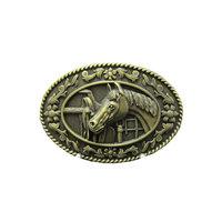 New Vintage Horse Head Saddle Western Cowboy brons Riem Buckle/gesp