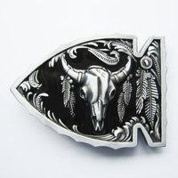 New Vintage zwart Arrowhead Bull Western Riem Buckle/gesp