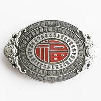 Lucky Knot Oval Vintage kleur Letters Riem Buckle/Gesp