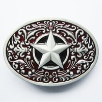Southwest - Star - Red Riem Buckle/Gesp