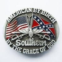 Vlag American by Birth Riem Buckle /Gesp