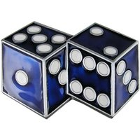 Double Dice Blauw/Wit Riem Buckle/Gesp
