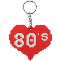 I Love 80s Pixel Hart sleutelhanger