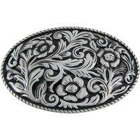 Cowgirl Flower Black Western Vintage Riem Buckle/Gesp