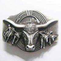 Longhorn Rodeo Bull Metal Riem Buckle/Gesp
