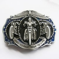 Live to Ride Skelet Motor Riem Buckle/Gesp