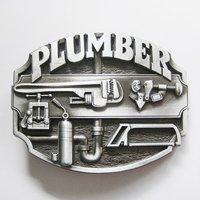 Loodgieter Plumber Metal Embleem Riem Buckle/Gesp
