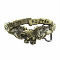 Born to Be Free Eagle Biker Rider Brons Riem Buckle/Gesp