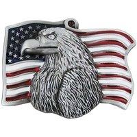Amerikaanse Vlag met Adelaar Riem Western Buckle/Gesp