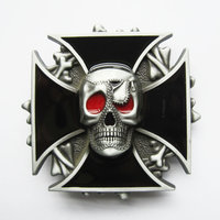 Iron Cross Emo Schedel Riem Buckle/Gesp