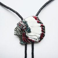 Indiaan Hoofdtooi Western Bolo Tie Western Halsketting