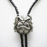 Britse Bull Dog 3D Bolo Tie Western Halsketting