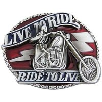 Live to Ride Skelet Riem Buckle/Gesp