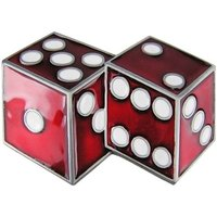 Double Dice Rood/Wit Riem Buckle/Gesp
