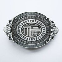 Lucky Knot Oval Vintage Letters Riem Buckle/Gesp