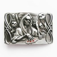 Tattoo Skull Death Gamble Riem Gesp/Buckle