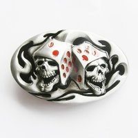 Tattoo Skull Dice Gamble Riem Buckle/Gesp
