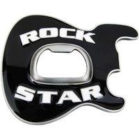 Flesopener Rock Star Zwart Riem Buckle/Gesp