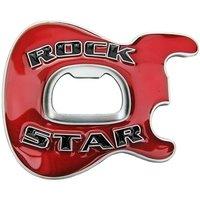 Rock Star Flesopener Rood Riem Buckle/Gesp