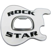 Flesopener Rock Star Wit Riem Buckle/Gesp