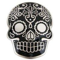 Inca Schedel Masker Zwart Riem Buckle/Gesp