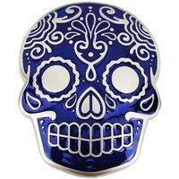 Inca Schedel Masker Blauw Riem Buckle/Gesp