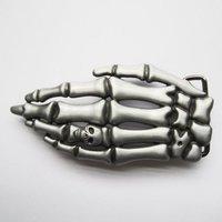 Skelet - Hand - Schedel - Riem Buckle/Gesp