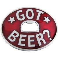 Flesopener Got Beer Rood Riem Buckle/Gesp