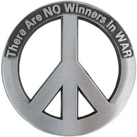 Peace Teken There are No Winners in War Riem Buckle/Gesp