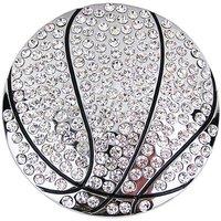 Basketbal met witte steentjes Riem Buckle/Gesp