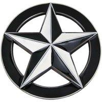 Ster in Cirkel Zwart/Wit Riem Buckle/Gesp