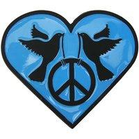 Vredesduiven Hart Blauw Riem Buckle/Gesp
