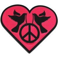 Vredesduiven Hart Roze Riem Buckle/Gesp