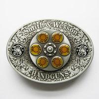 Hand Gun Bullet Spinner Riem Buckle/Gesp