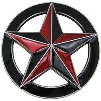 Ster in Cirkel Zwart/Rood Riem Buckle/Gesp
