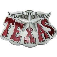 Texas Lone Star Rood Riem Buckle/Gesp