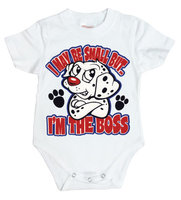 I May Be Small But... - I,m The Boss - Wit Baby Romper