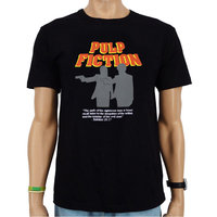 Pulp Fiction Silhouet Heren T-shirt zwart