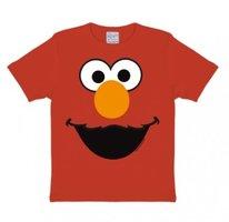 Sesamstraat Elmo Face Kinder T-shirt rood