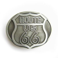 Route US 66 Metal Riem Gesp/Buckle