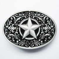 Southwest - Star - Black Riem Buckle/Gesp