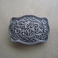 Flower Pattern Original Western Riem Gesp/Buckle