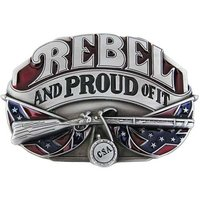 Rebel And Proud Of It Riem Buckle/Gesp