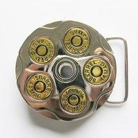 Gun Bullet Round Spinning Spinner Riem Buckle/Gesp