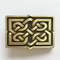 Celtic Cross Knot Vintage Brons Riem Buckle/Gesp