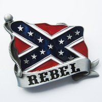 Rebel Western Vlag Banner Riem Buckle/Gesp