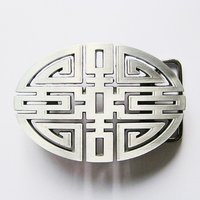 Lucky Knot Oval Cut Out Traditional Riem Buckle/Gesp