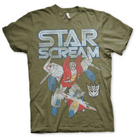 Transformers T-shirt Starscream Marvel Comics Vintage Heren groen